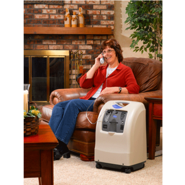 PERFECTO2V STATIONARY OXYGEN CONCENTRATOR-person example